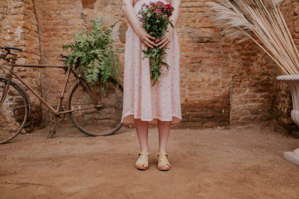 Vestido largo floral rosa apto para lactanciaVestido largo floral rosa apto para lactancia
